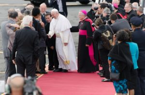 Image of Pope Francis Arrival