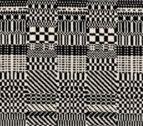 Matrix 22068 Carpet In Black On White