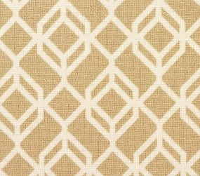 Facet 21934 Carpet In White On Beige
