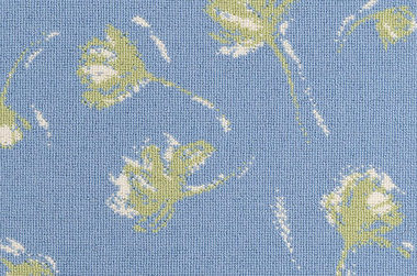 Shadow Flower #31576 - 9465 Green and DB White on 7472 Blue