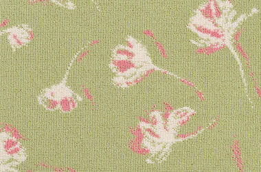 Shadow Flower #31595 - 18603 Coral and DB White on 9485 Green