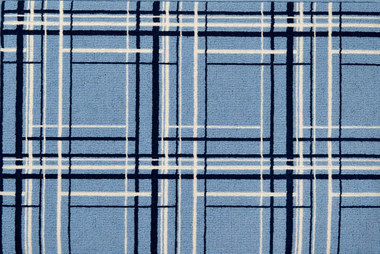 Image of Urban Plaid #31582 White, Blue on Blue connector