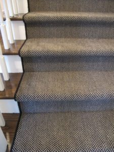 Stair Runners, Five Yard Minimum. Jacquard Wilton Carpet, Woven Wool