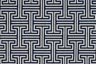 Labyrinth 739 White 1052 Blue Small Srgb