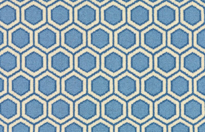 Image of Honeycomb #31207 Carpet in Blue, Light Blue and White