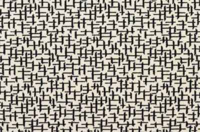 Crossed #21823 Carpet in Black on White