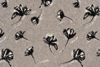 Shadow Flower 31576 Carpet In Black White On Gray