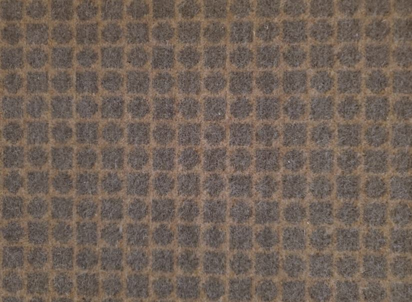 Image of Checkmate #2147 Carpet in 18849 Bark on 18848 Fawn