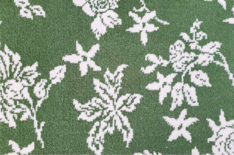 Image of Somerset Shadow #21374 Carpet in 739 White on 19184 Green