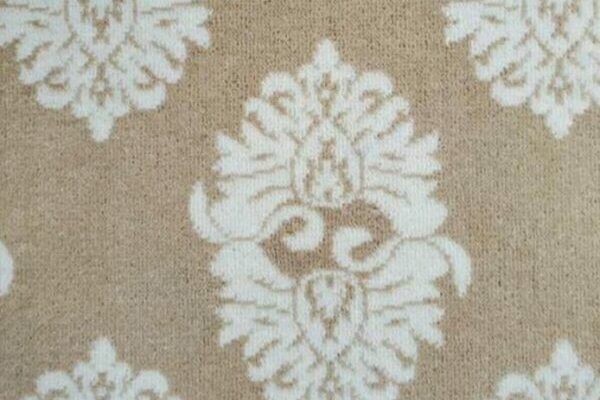 Image of Windsor #22113 Carpet in 739 White on 9785 Beige