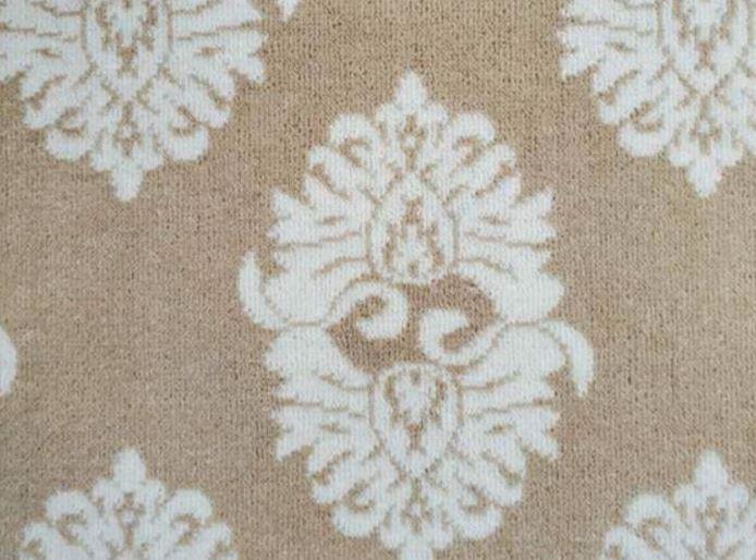Image of Windsor #22113 Carpet in 739 White on 9785 Beige